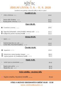 Obědové menu Centrum Kosatec Pardubice