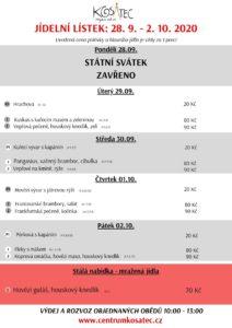 Obědové menu Centrum Kosatec