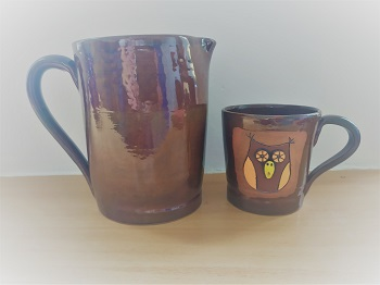 Keramiky z dílny Centra Kosatec Pardubice